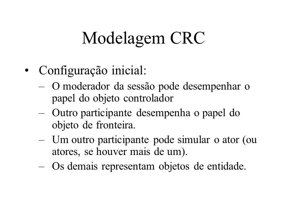 Modelagem CRC Configuração inicial: