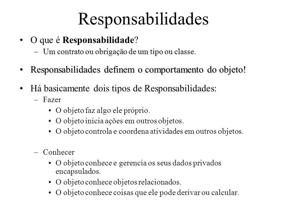 Responsabilidades O que é Responsabilidade