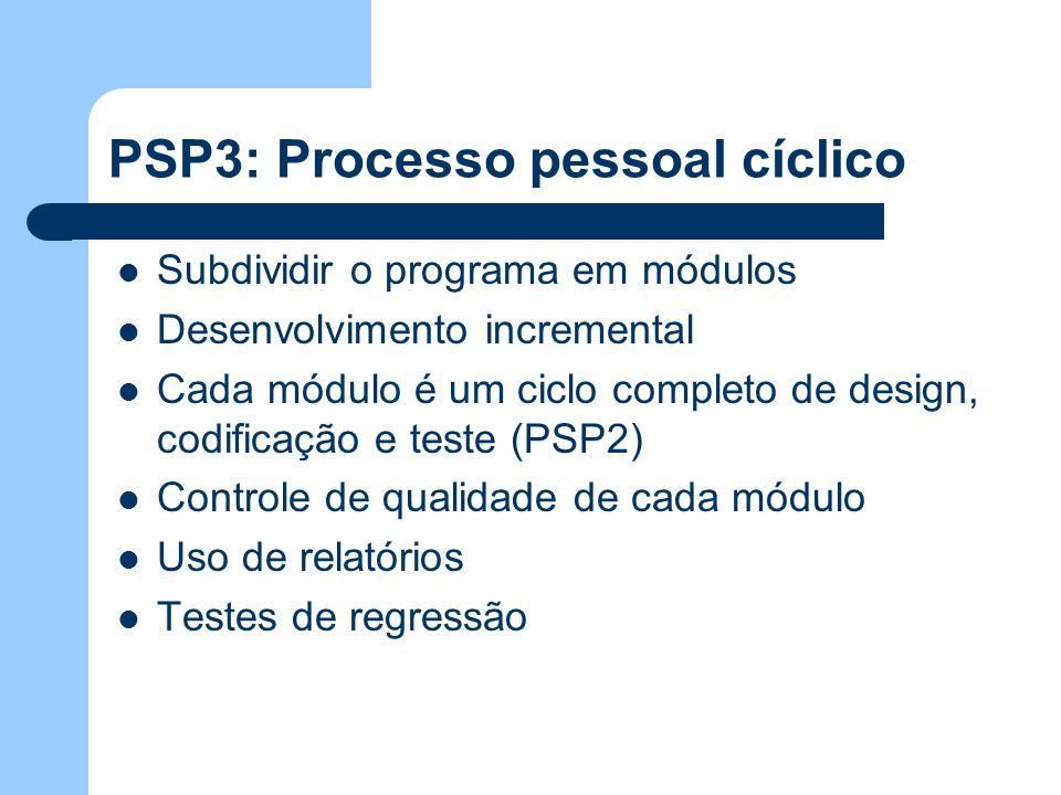 PSP3: Processo pessoal cíclico