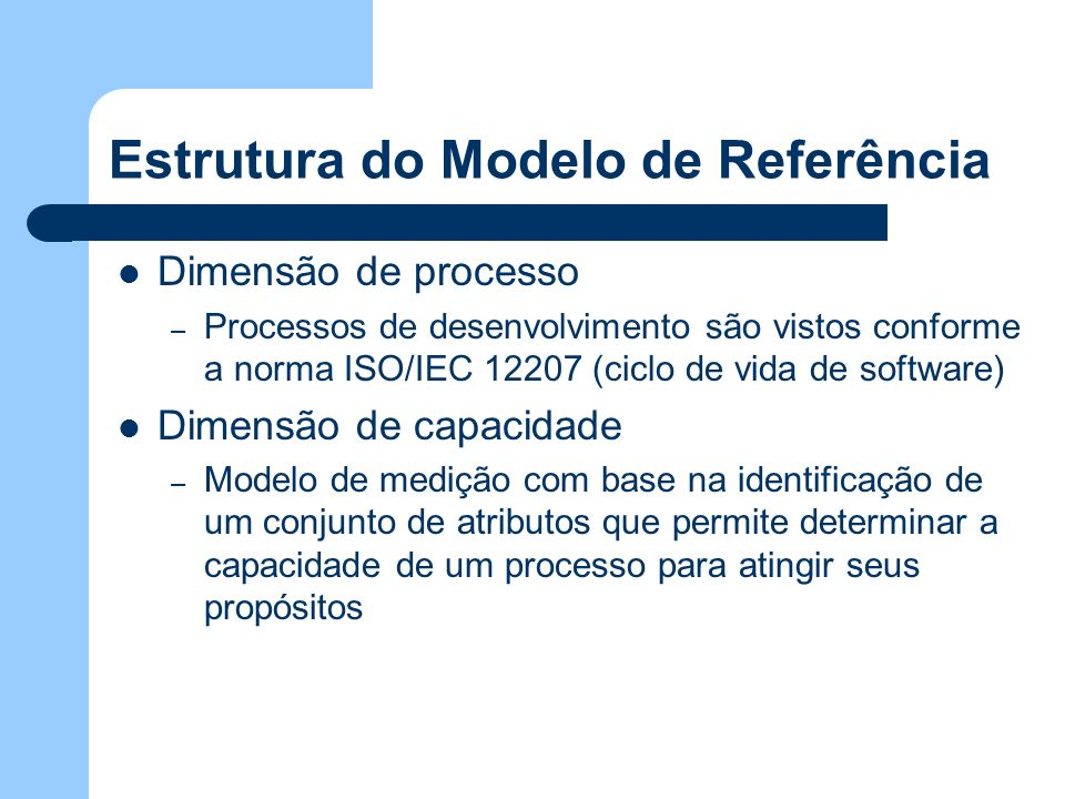 Estrutura do Modelo de Referência