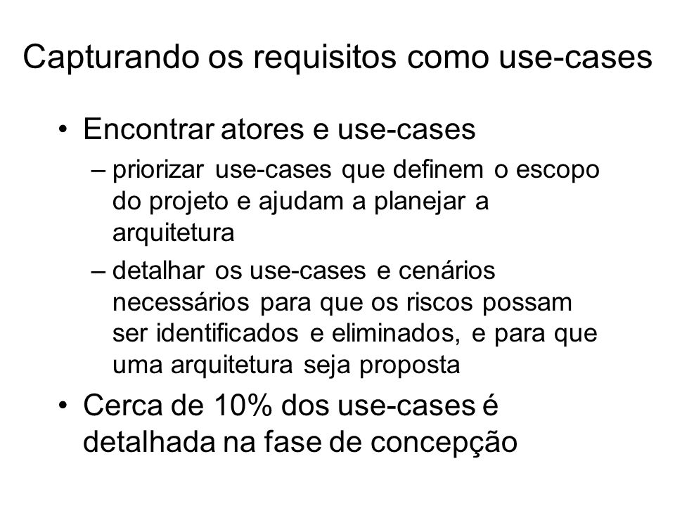 Capturando os requisitos como use-cases