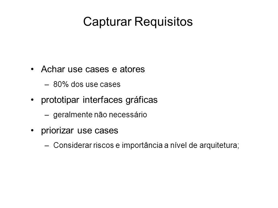 Capturar Requisitos Achar use cases e atores