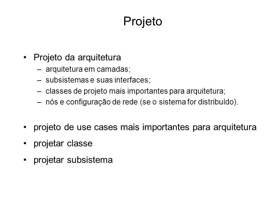 Projeto Projeto da arquitetura