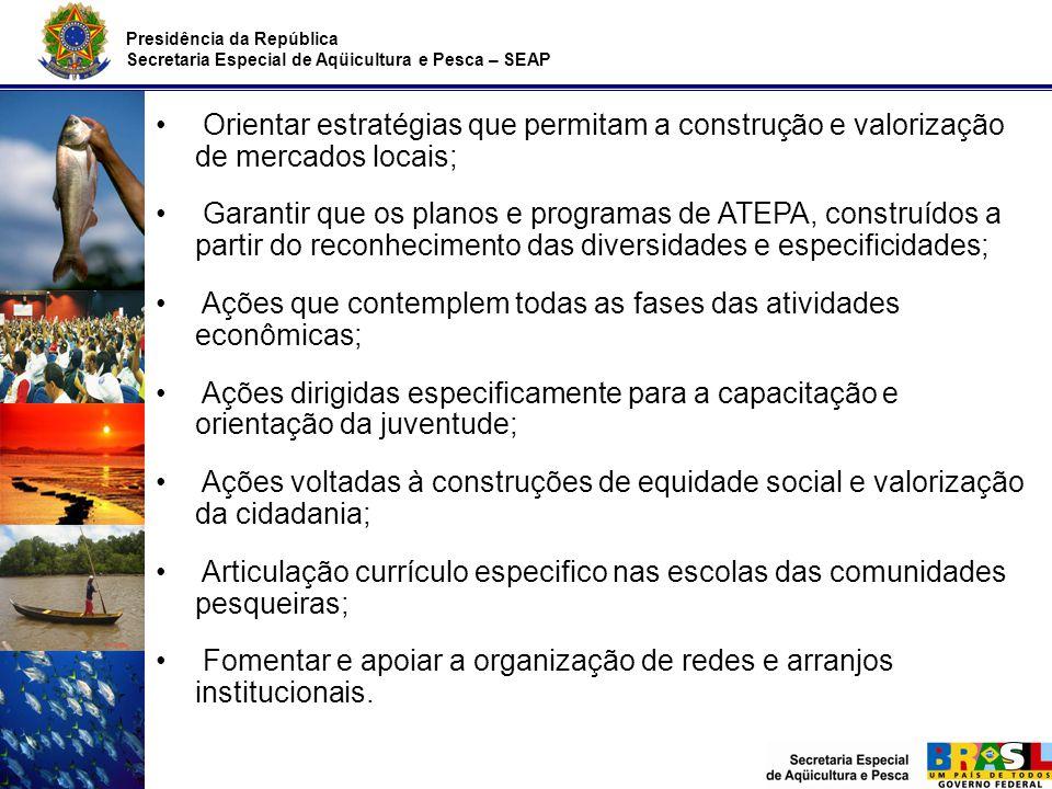Ações que contemplem todas as fases das atividades econômicas;