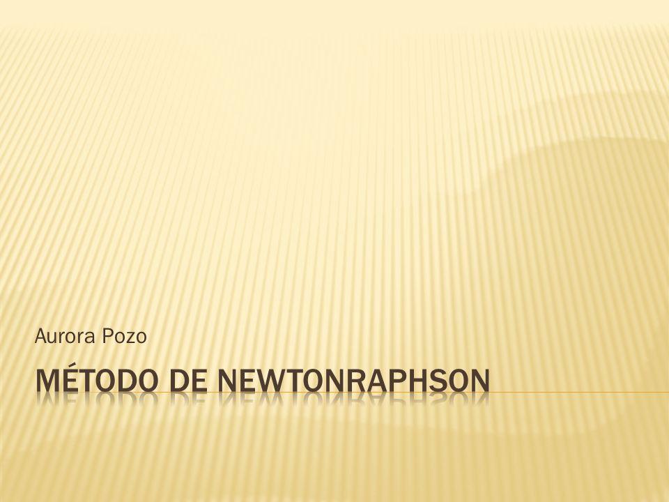 Método de NewtonRaphson