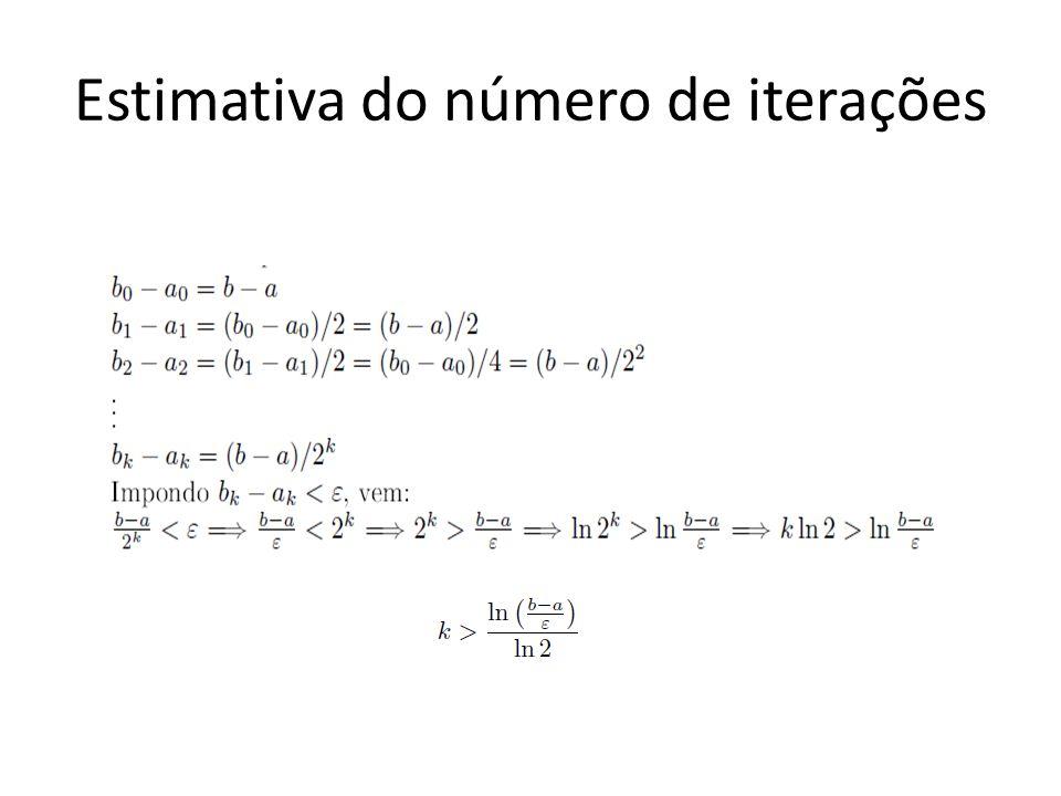 Estimativa do número de iterações