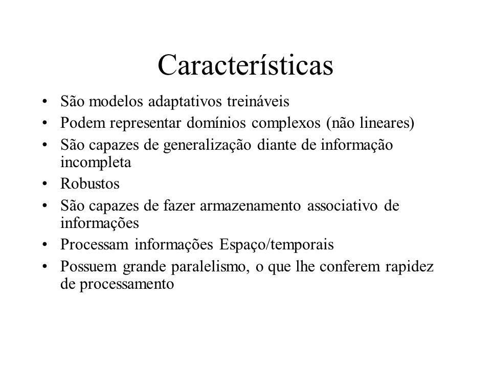 Características São modelos adaptativos treináveis