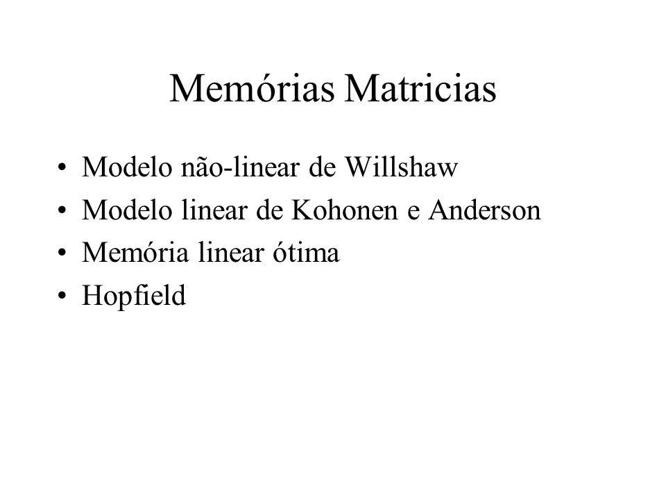 Memórias Matricias Modelo não-linear de Willshaw