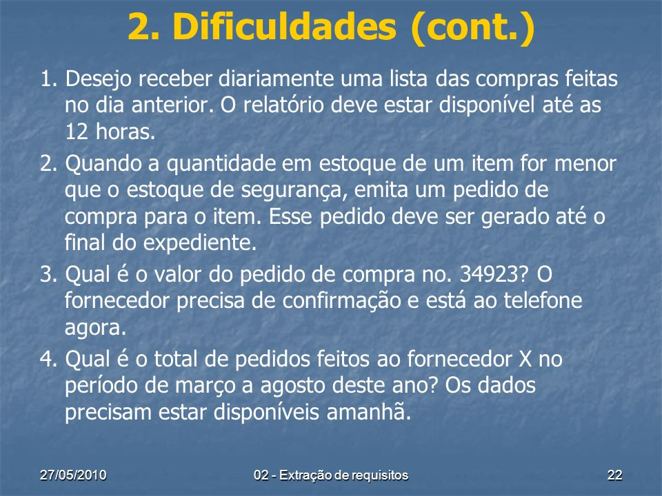 02 - Extração de requisitos