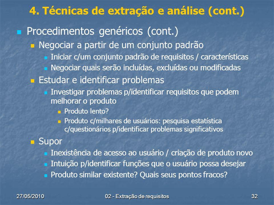 4. Técnicas de extração e análise (cont.)