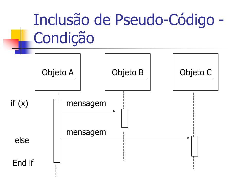 Inclusão de Pseudo-Código - Condição
