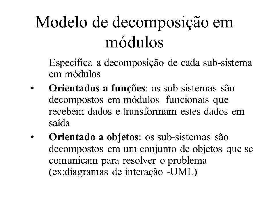 Modelo de decomposição em módulos