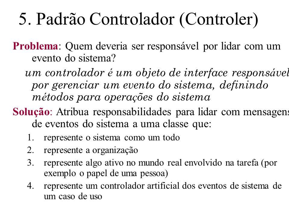 5. Padrão Controlador (Controler)