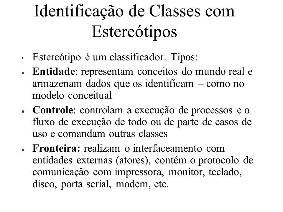 Identificação de Classes com Estereótipos