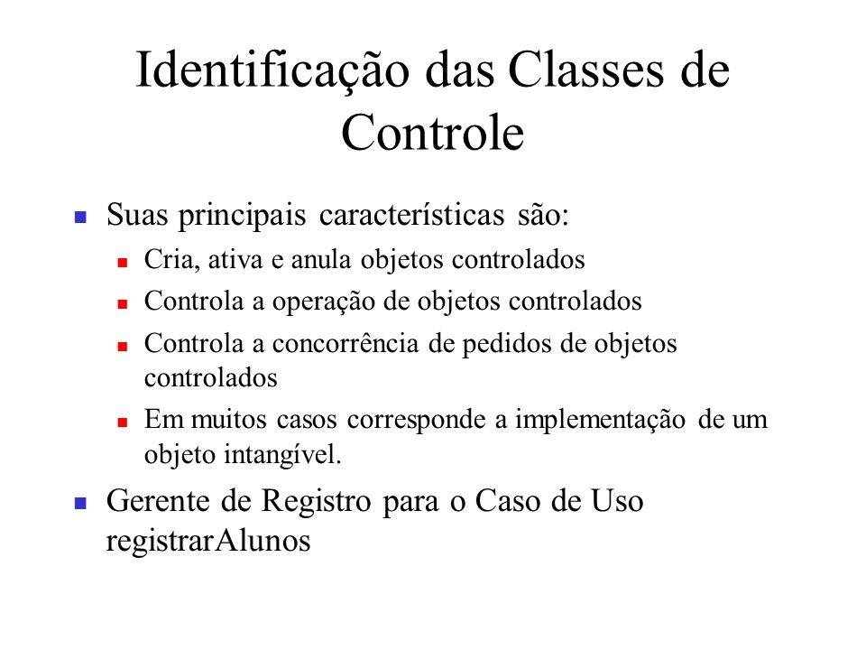 Identificação das Classes de Controle