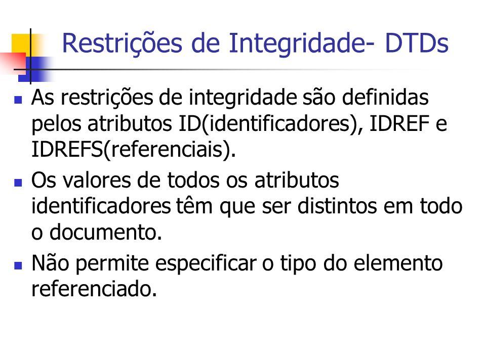 Restrições de Integridade- DTDs
