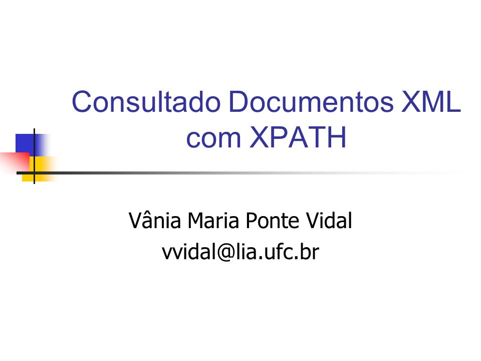 Consultado Documentos XML com XPATH