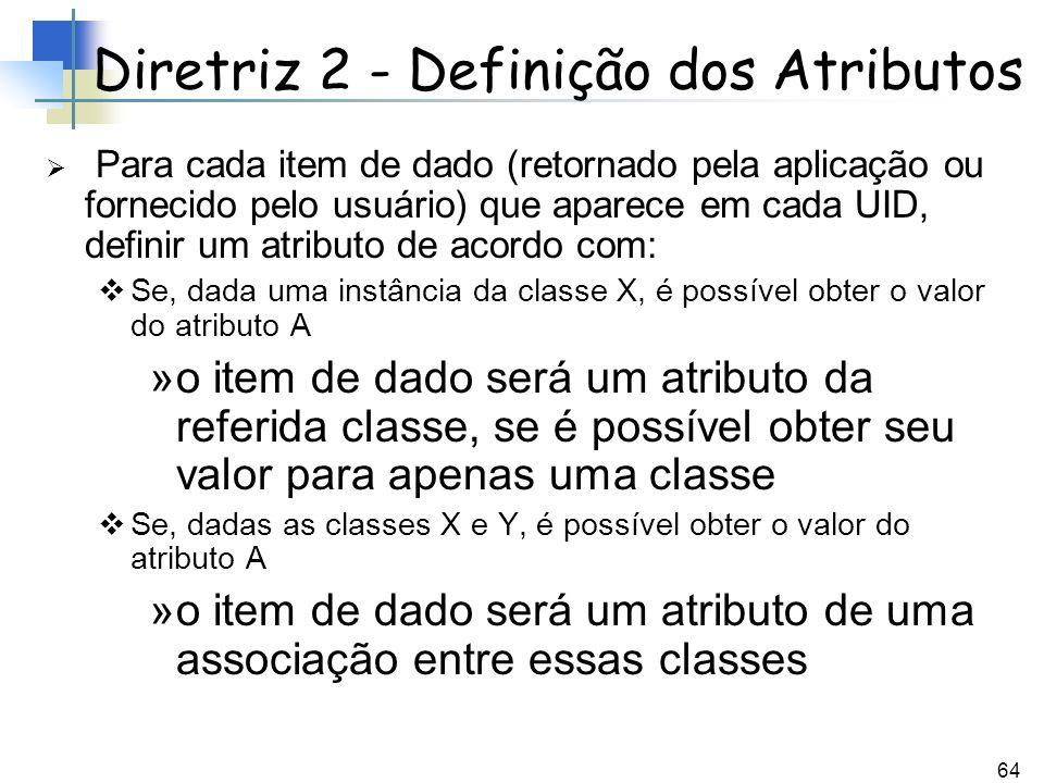 Diretriz 2 - Definição dos Atributos