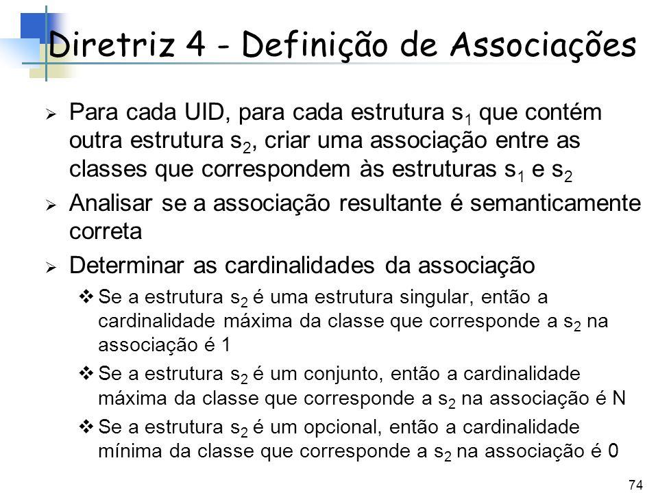 Diretriz 4 - Definição de Associações