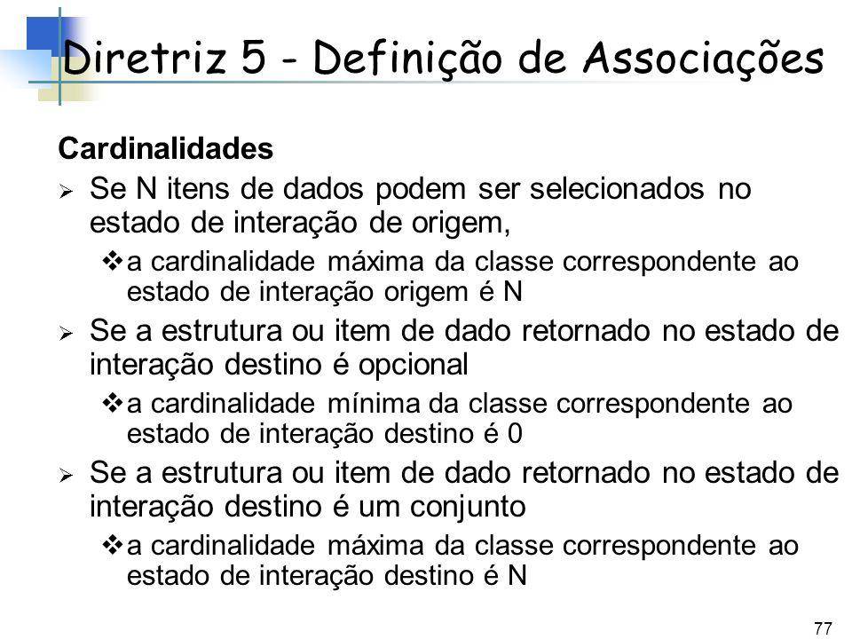 Diretriz 5 - Definição de Associações