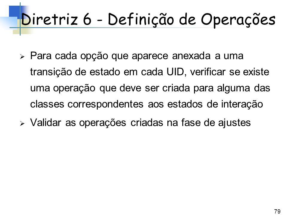 Diretriz 6 - Definição de Operações