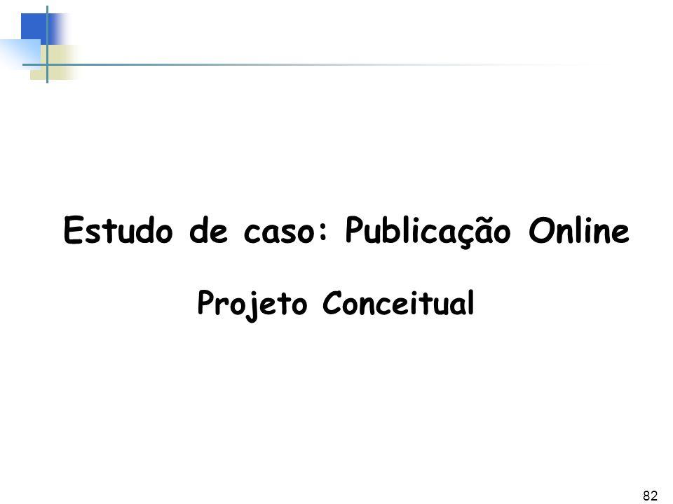 Estudo de caso: Publicação Online
