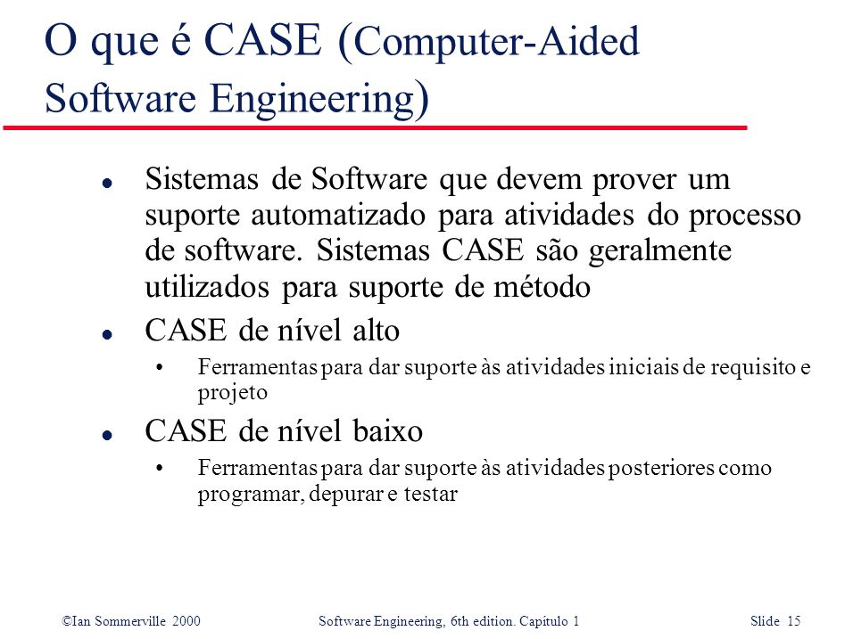 O que é CASE (Computer-Aided Software Engineering)