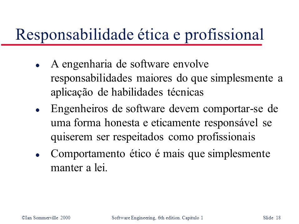 Responsabilidade ética e profissional
