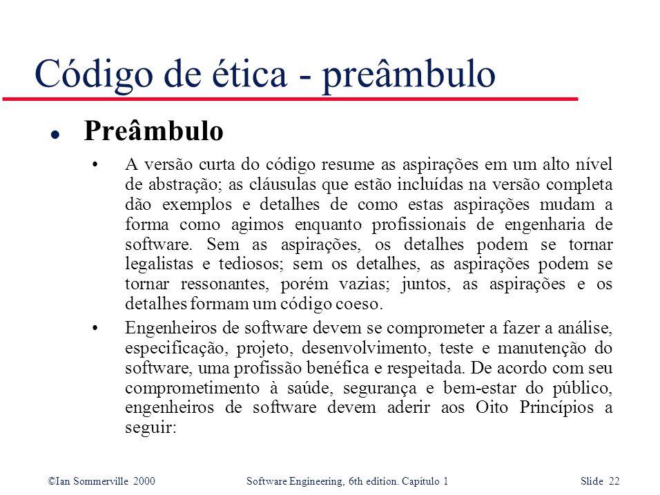 Código de ética - preâmbulo