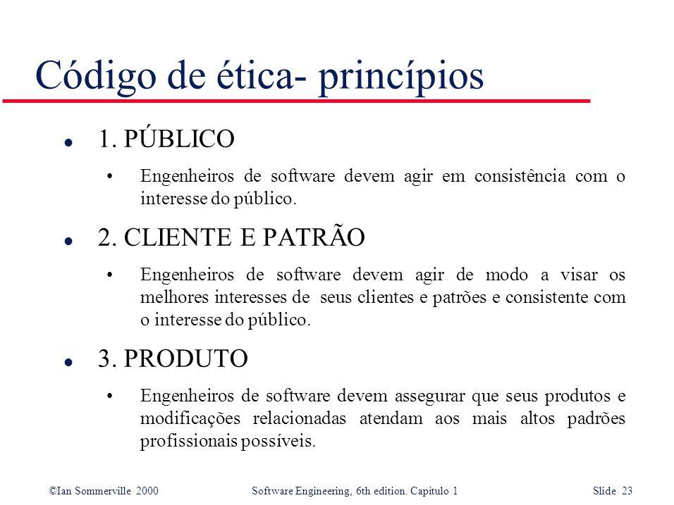 Código de ética- princípios