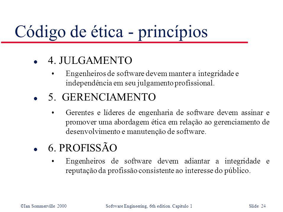 Código de ética - princípios