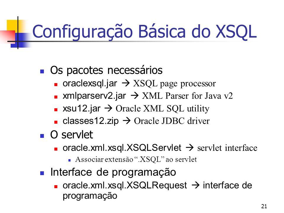 Configuração Básica do XSQL
