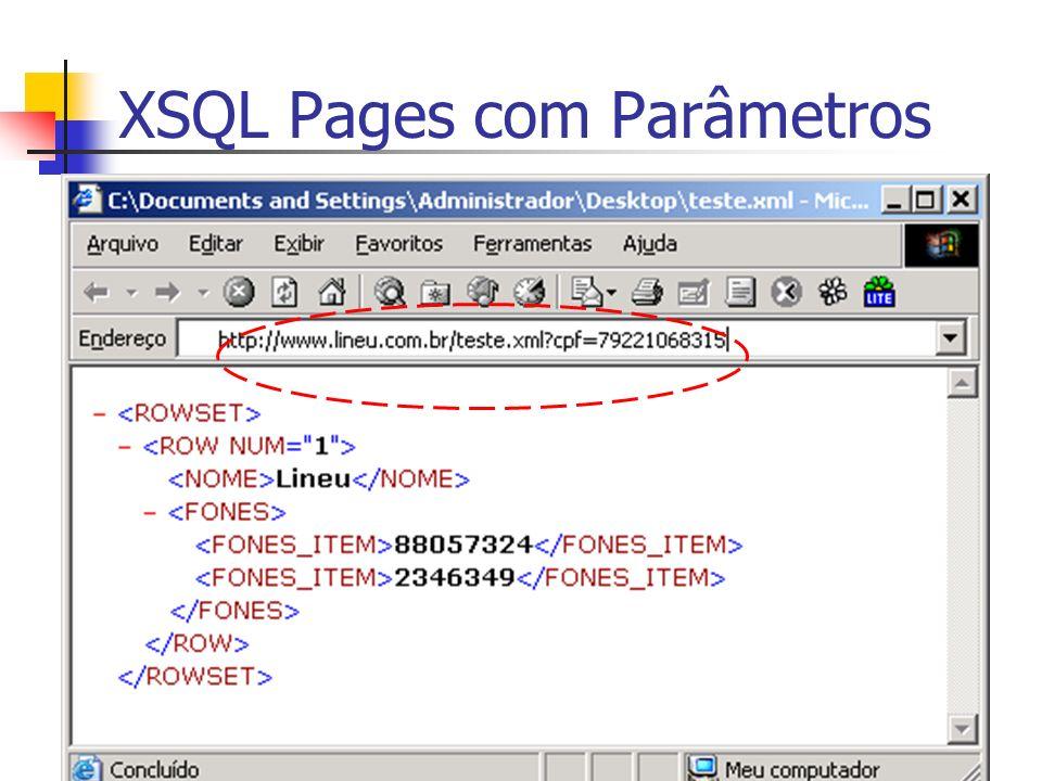 XSQL Pages com Parâmetros