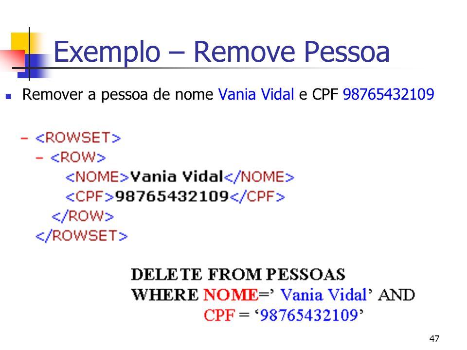 Exemplo – Remove Pessoa