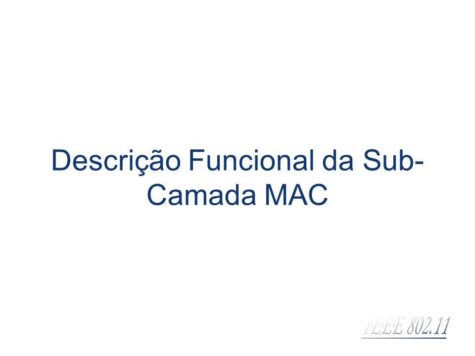 Descrição Funcional da Sub-Camada MAC