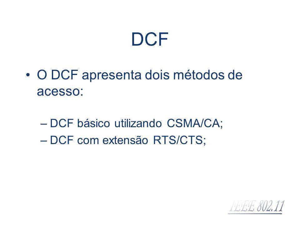 DCF O DCF apresenta dois métodos de acesso: