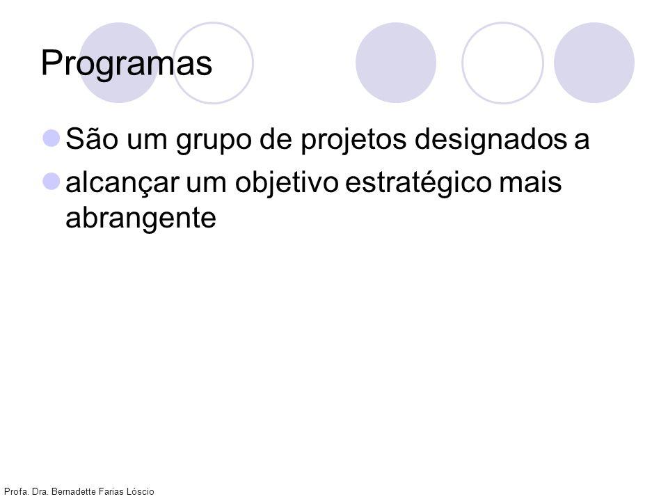 Programas São um grupo de projetos designados a