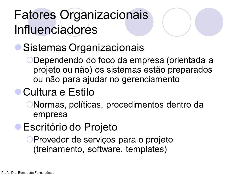 Fatores Organizacionais Influenciadores