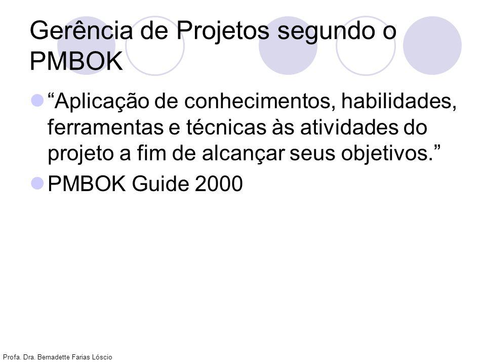 Gerência de Projetos segundo o PMBOK
