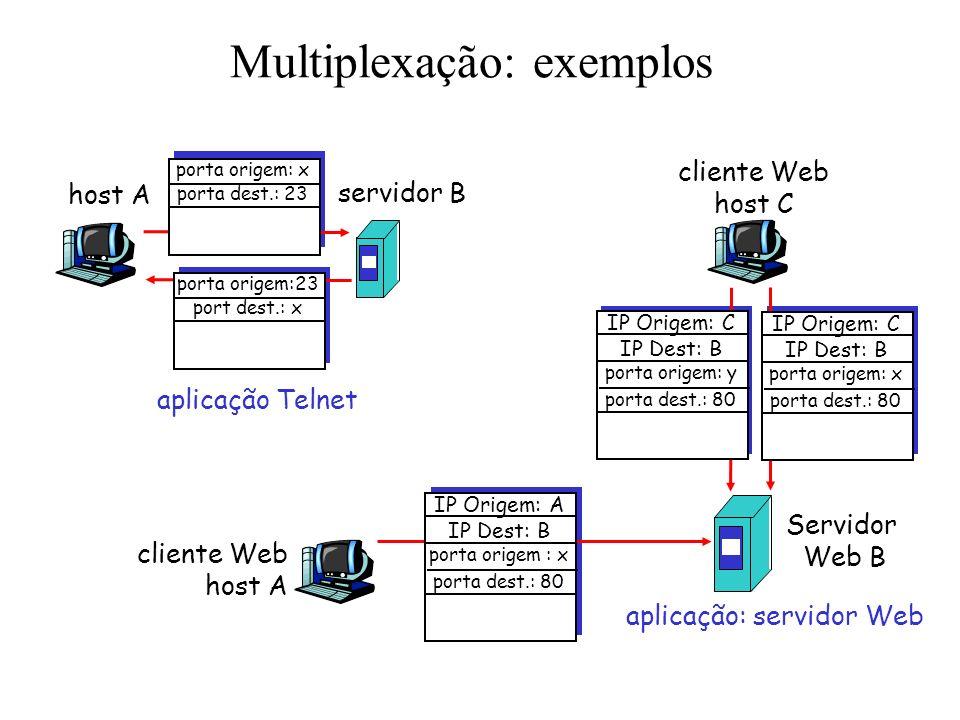 Multiplexação: exemplos