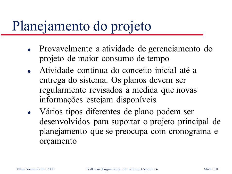 Planejamento do projeto