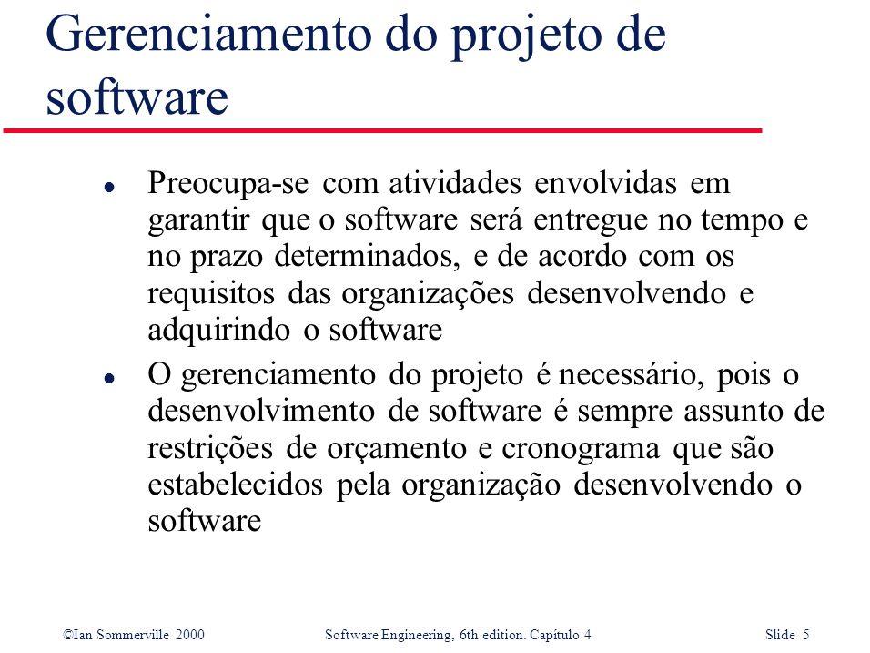 Gerenciamento do projeto de software