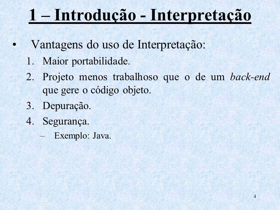 1 – Introdução - Interpretação