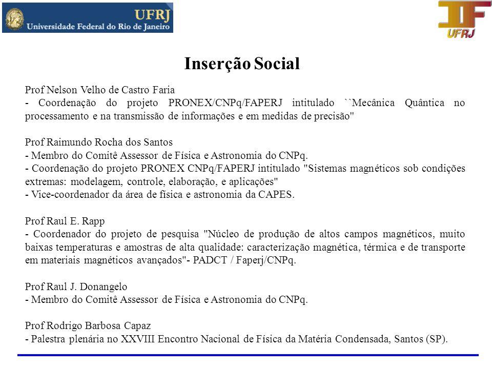 Inserção Social Prof Nelson Velho de Castro Faria