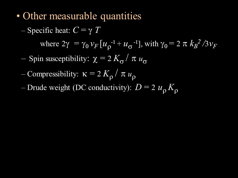 Other measurable quantities