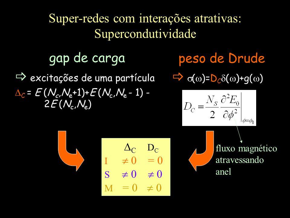 Super-redes com interações atrativas: Supercondutividade