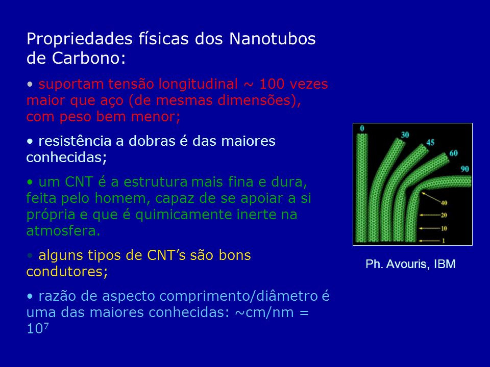 Propriedades físicas dos Nanotubos de Carbono: