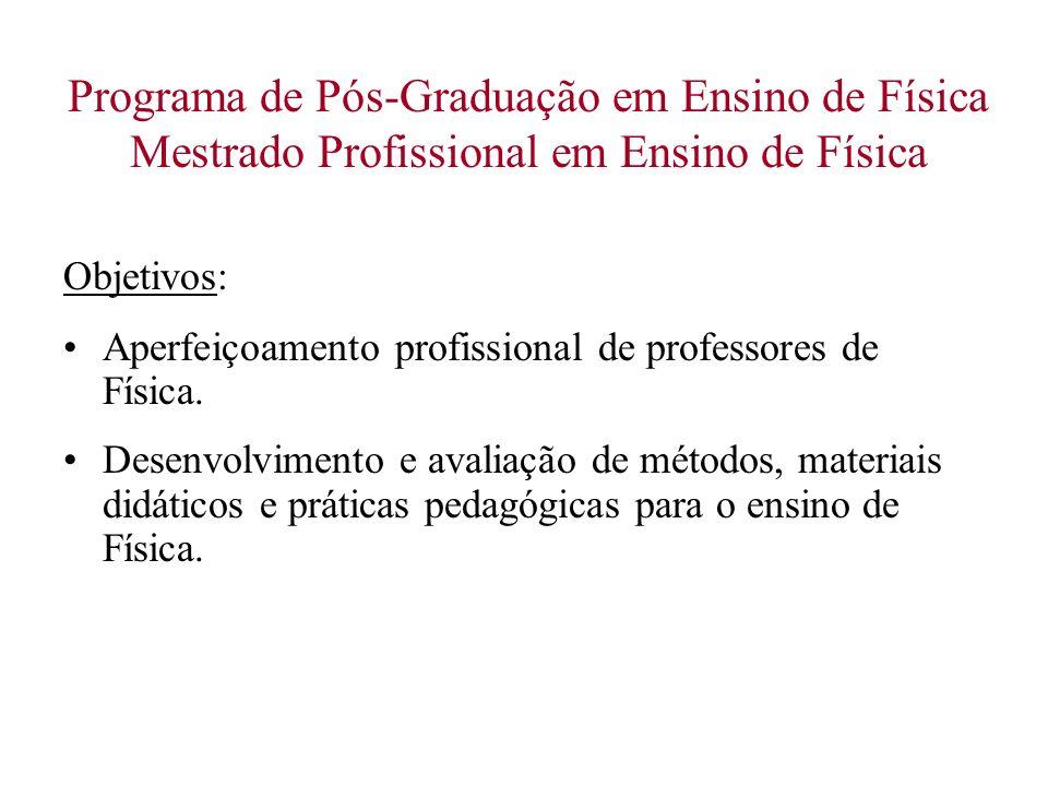 Programa de Pós-Graduação em Ensino de Física Mestrado Profissional em Ensino de Física
