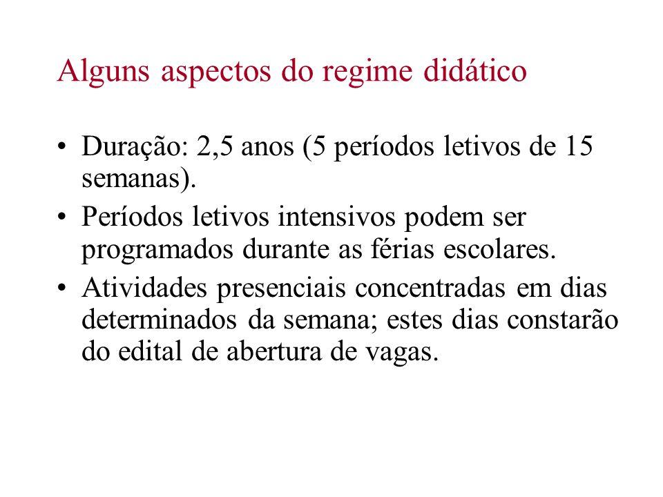Alguns aspectos do regime didático