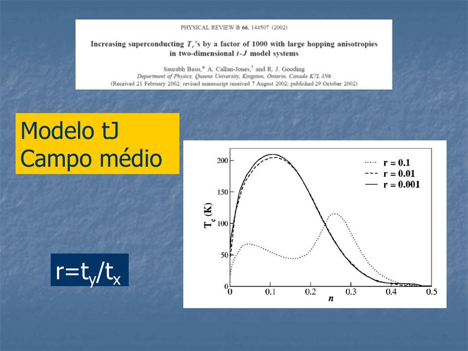 Modelo tJ Campo médio r=ty/tx